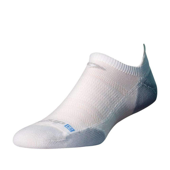 Drymax Running Lite-Mesh No Show Tab Socks, White/Grey