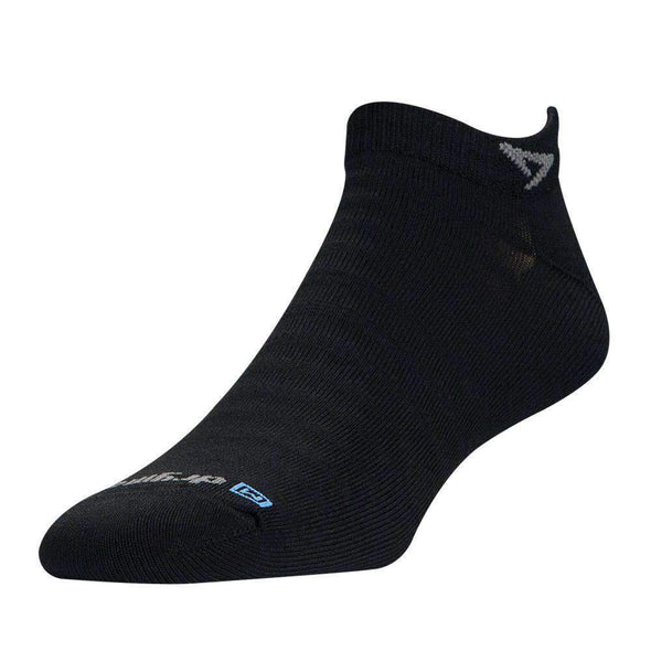 Drymax Hyper Thin Running Mini Crew Socks, Black