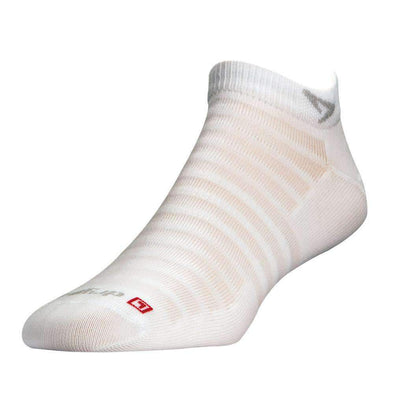Drymax Hyper Thin Running Mini Crew Socks, White