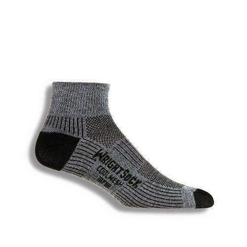 Wrightsock CoolMesh II Qtr Socks, Grey