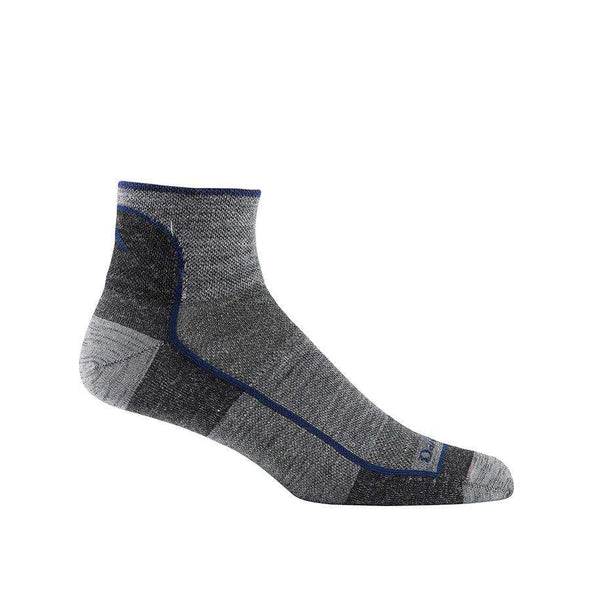 Darn Tough Men's Run-Bike Light 1/4 Crew Socks