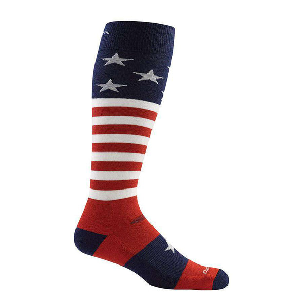 Darn Tough Men's Captain Stripe Over-The-Calf Light, Stars & Stripes