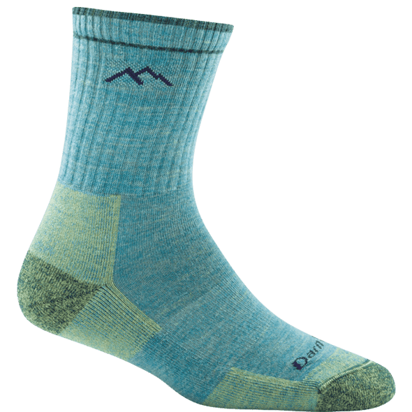 Darn Tough Women's Hiker Micro Crew Cushion, Aqua Heather