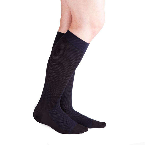 VenaCouture Men's Carbon Centric Compression Socks, Midnight Navy