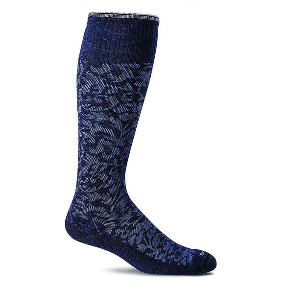 Sockwell Women's Damask Moderate Compression Socks, Navy
