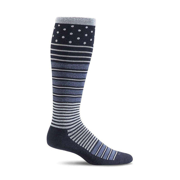 Sockwell Women's Twister Firm Compression Socks, Navy