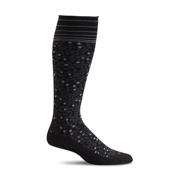 Sockwell Women's New Leaf Firm Compression Socks, Black