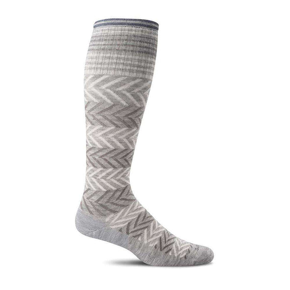 Sockwell Women's Chevron Moderate Compression Socks, Grey