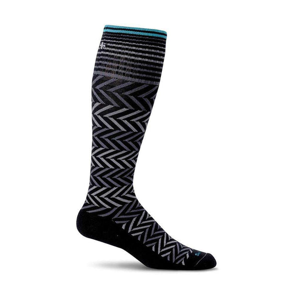 Sockwell Women's Chevron Moderate Compression Socks, Black