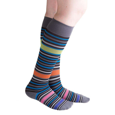 VenaCouture Women's Bold Bayadere Striped Compression Socks