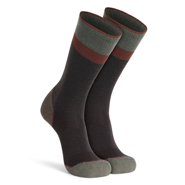 Fox River Lookout Crew Socks, Brown