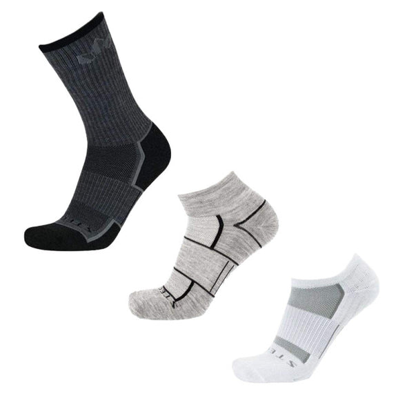 Stego All-Around Variety 3-Pack, White/Grey/Ash