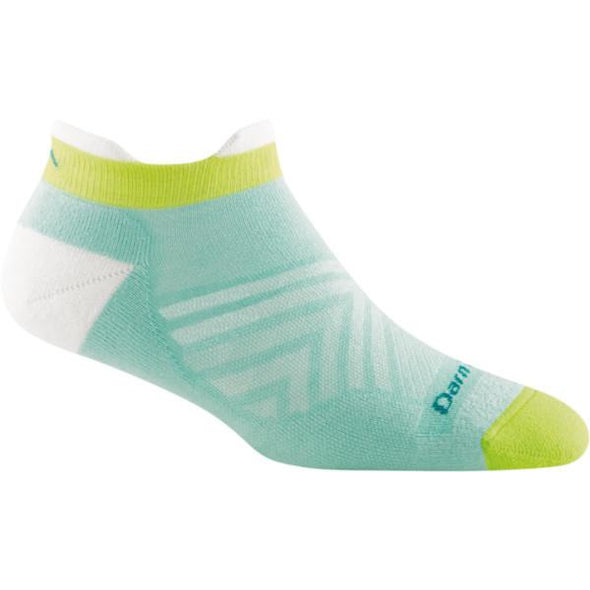 Darn Tough Women's Run Coolmax No Show Tab Ultra Light Cushion, Aqua