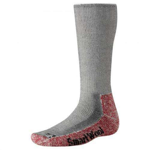 Smartwool Men's Mountaineering Extra Heavy Crew Socks, Grey/Crimson