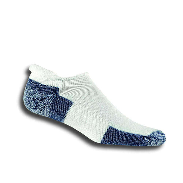 Thorlos Rolltop Running Socks, White/Navy
