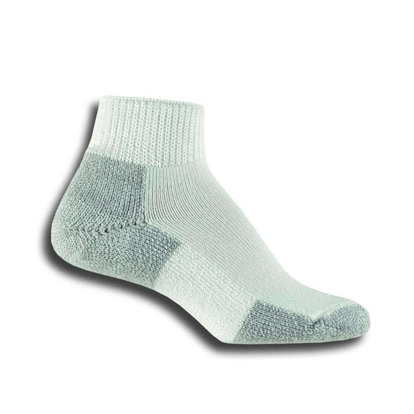 Thorlos Running Ankle Socks, White/Platinum