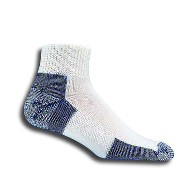 Thorlos Running Ankle Socks, White/Navy