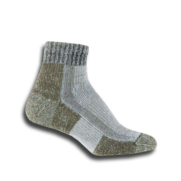 Thorlos Women's Light Hiking Ankle Socks, Khaki/Heather