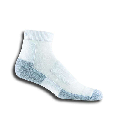 Thorlos Men's Walking Ankle Socks, White/Platinum
