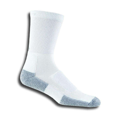Thorlos Women's Walking Crew Socks, White/Platinum