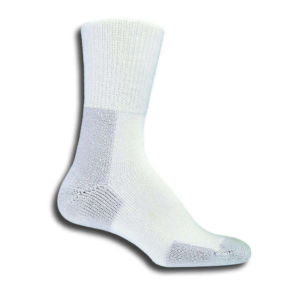 Thorlos Running Crew Socks, White/Platinum