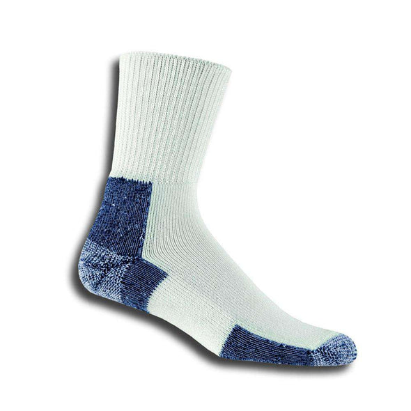 Thorlos Running Crew Socks, White/Navy