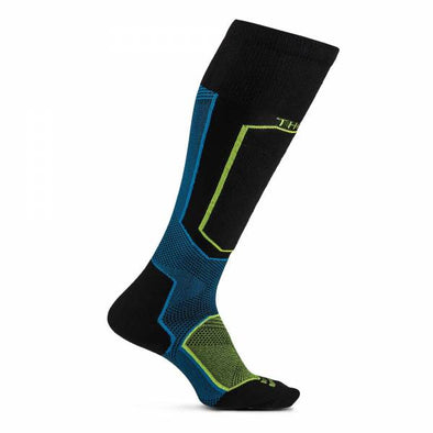Thorlos XSKI Skiing Light Cushion Over-Calf Socks, Charged Raven