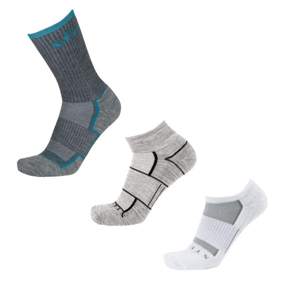 Stego All-Around Variety 3-Pack, White/Grey/Ocean