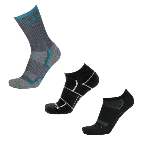 Stego All-Around Variety 3-Pack, Black/Charcoal/Ocean