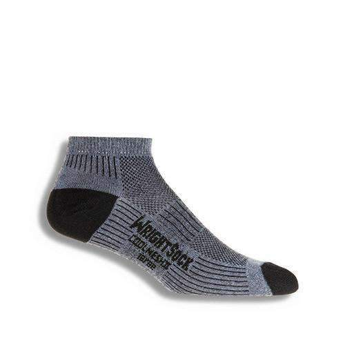 Wrightsock CoolMesh II Lo Qtr Socks, Grey