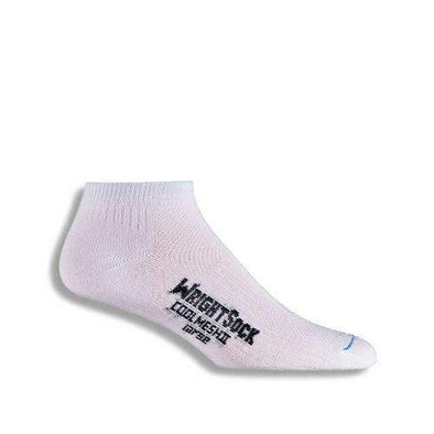 Wrightsock CoolMesh II Lo Qtr Socks, White