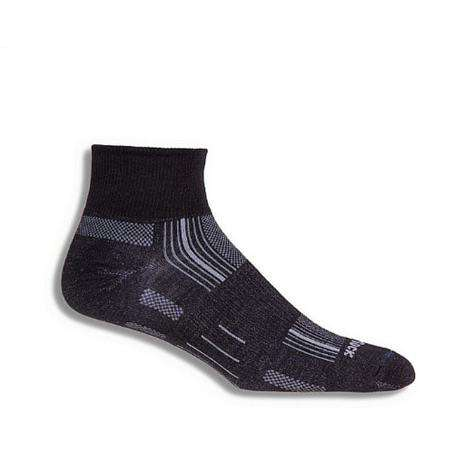 Wrightsock Stride Qtr Socks, Black