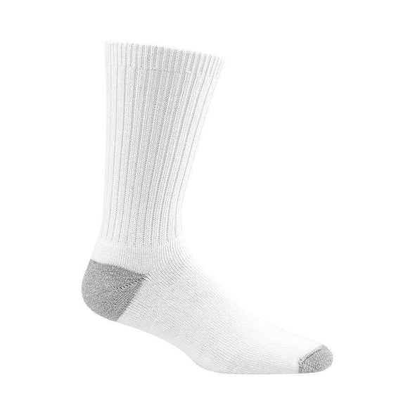 Wigwam Diabetic Sport Crew Socks, White