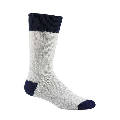 Wigwam Moose Crew Socks, Grey/Navy