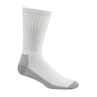 Wigwam At Work Crew Socks, 3 Pack, White/Sweatshirt Grey