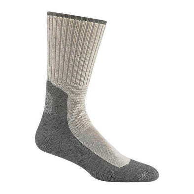 Wigwam At Work Durasole Pro Crew Socks, 2 Pack, White/Grey