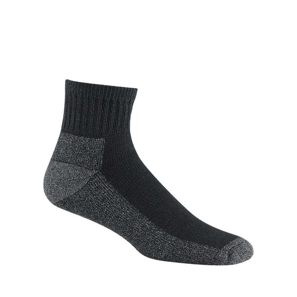 Wigwam At Work Quarter Crew Socks, 3 Pack, Black