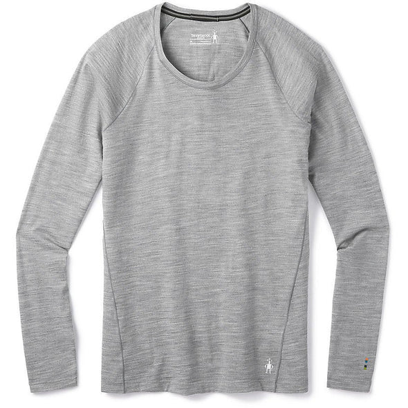 Smartwool Women's Merino 150 Base Layer Long Sleeve, Light Gray Heather