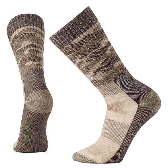 Smartwool Men's Hunt Medium Camo Crew Socks, Fossil