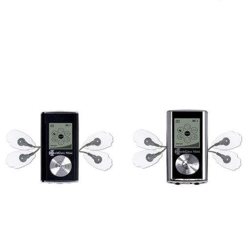 2 Pack Deal TechCare Mini Silver and Black Tens Unit 6
