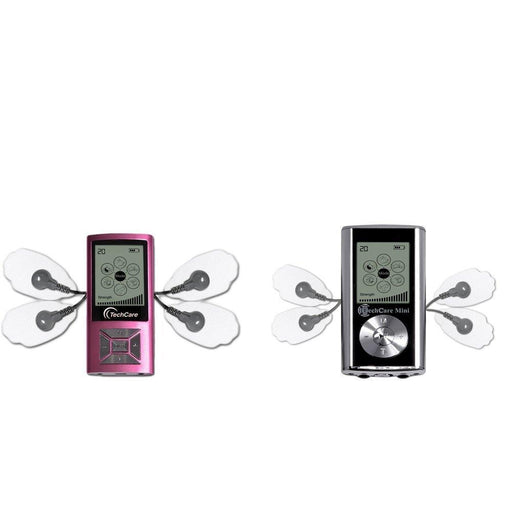 2 Pack Deal TechCare Mini Pink and Silver Tens Unit 6