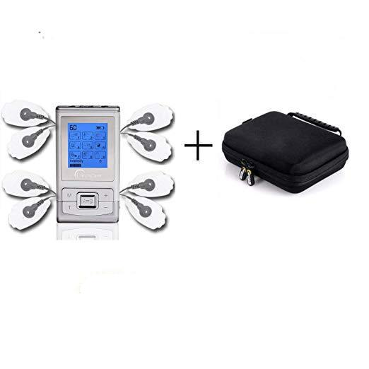TechCare SE Dual Channel 9 Modes Portable Tens Unit Machine Device with with Protective Cover Case