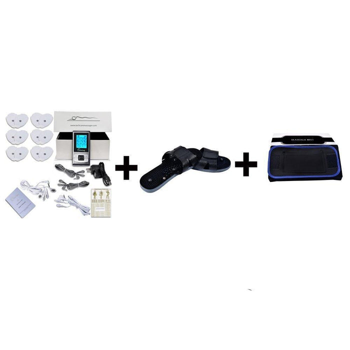 TechCare SE Tens Unit + Shoe + Belt + 6 Pads