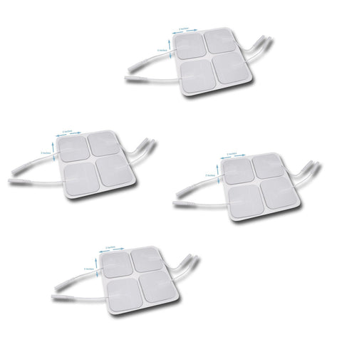 "16 Pack Tens Unit Pigtail Square Electrode Pads 2"" x 2"""