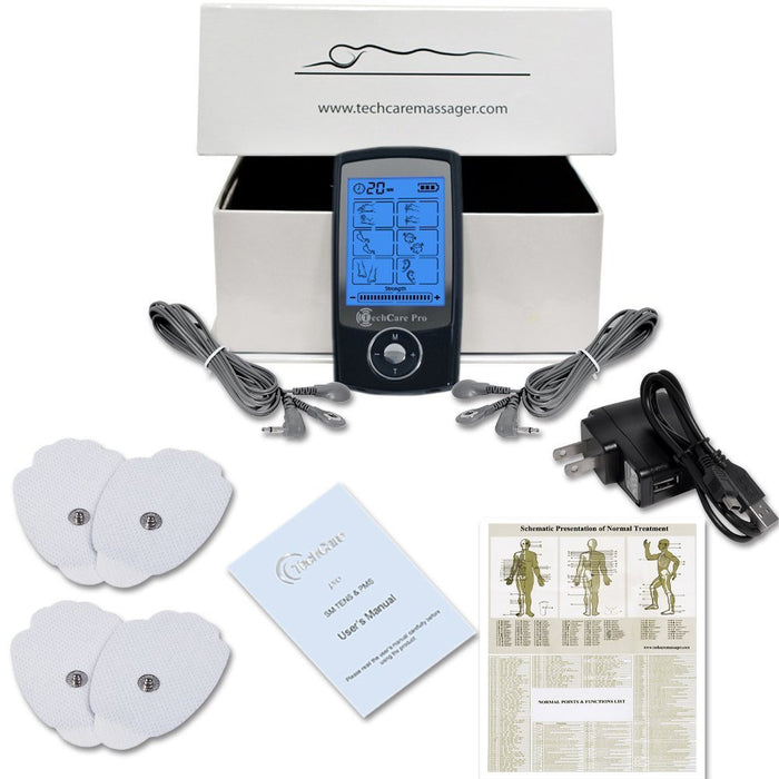 TechCare Pro 24 Tens Unit + Shoe + Belt + 6 Patches