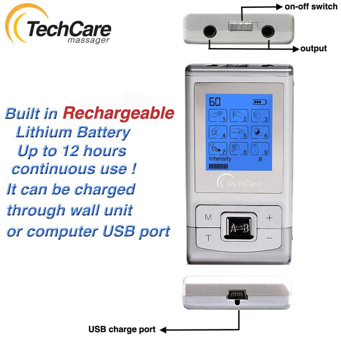 TechCare Massager SE - Portable TENS Unit 9 Modes