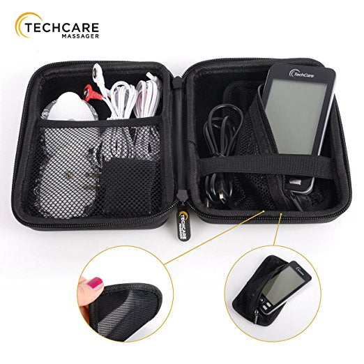 TECHCARE PLUS 24 MODES TENS UNIT + HARD TRAVEL CASE
