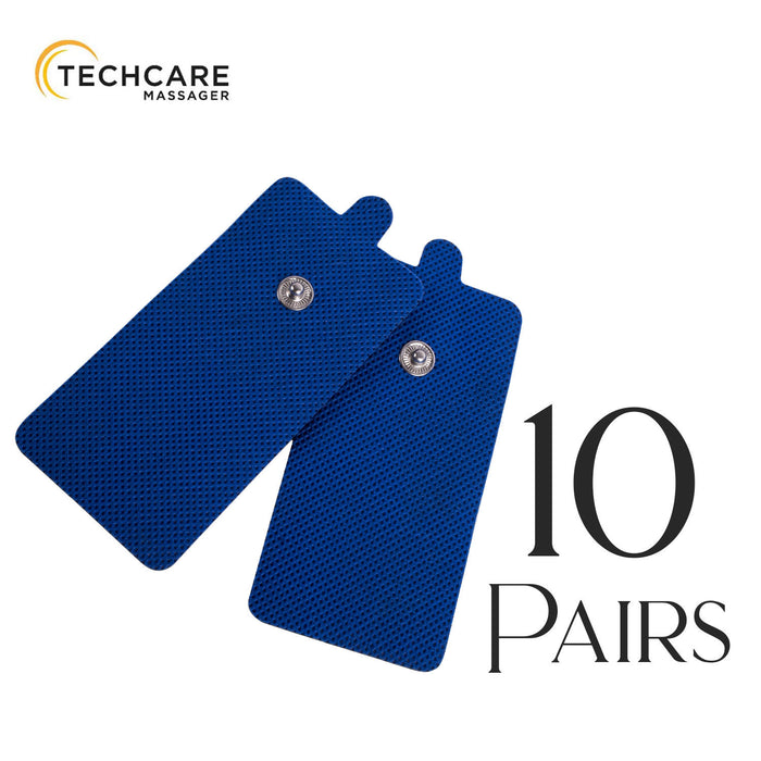 Tens Unit Pads [FDA 510(k) Cleared]  Medical Grade Blue Extra Large Electrodes