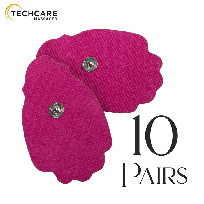 20 Large Pink Snap On Reusable Self-Adhesive Replacement Tens Unit Electrode Pads