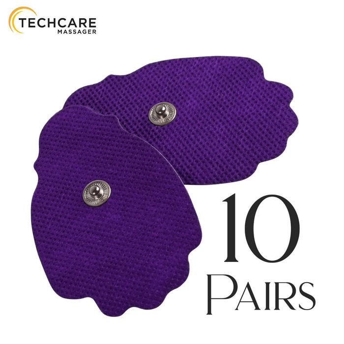 20 Large Snap On Reusable Self-Adhesive Replacement Tens Unit Electrode Pads